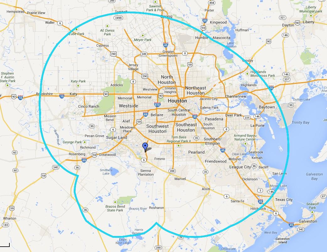 KCVH-LD Coverage Map